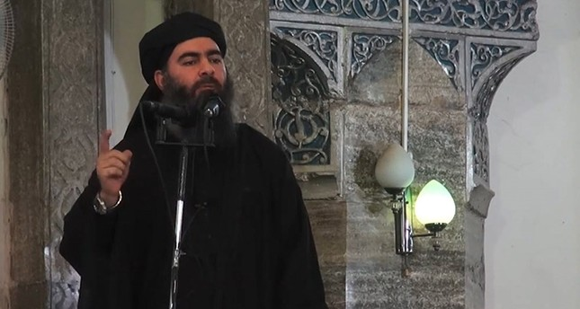 An image grab taken from a propaganda video released on July 5, 2014 by al-Furqan Media allegedly shows the leader of Daesh (AFP File Photo)