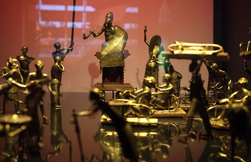 This file photo shows the Ato ceremony of the Kingdom of Dahomey, circa 1934 on May 18, 2018 at the Quai Branly Museum-Jacques Chirac in Paris. (AFP Photo)