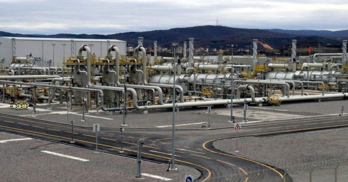 TurkStream gas reception terminal in Ku0131yu0131ku00f6y at Turkish-Bulgarian border. (AA Photo)
