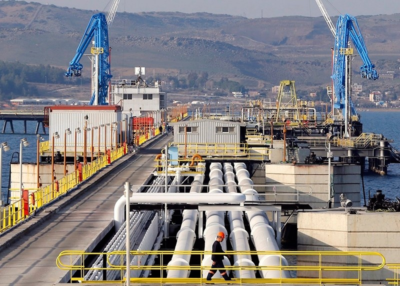 A general view at Mediterranean port of Ceyhan, which is run by state-owned Petroleum Pipeline Corporation (BOTAu015e), some 70 km (43.5 miles) from Adana, Turkey, Feb. 19, 2014. (Reuters Photo)