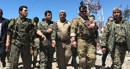 pU.S. military officials visited an area controlled by the PKK terrorist group's Syrian offshoot the span class=stPeople's Protection Units (YPG)/span after Turkish airplanes carried out airstrikes...