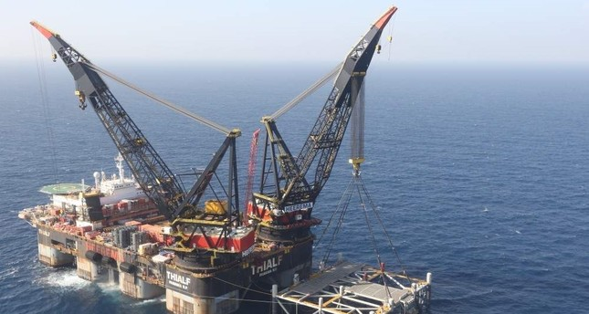 A platform in the Leviathan natural gas field, in the Mediterranean Sea off the Israeli coast. AP Photo