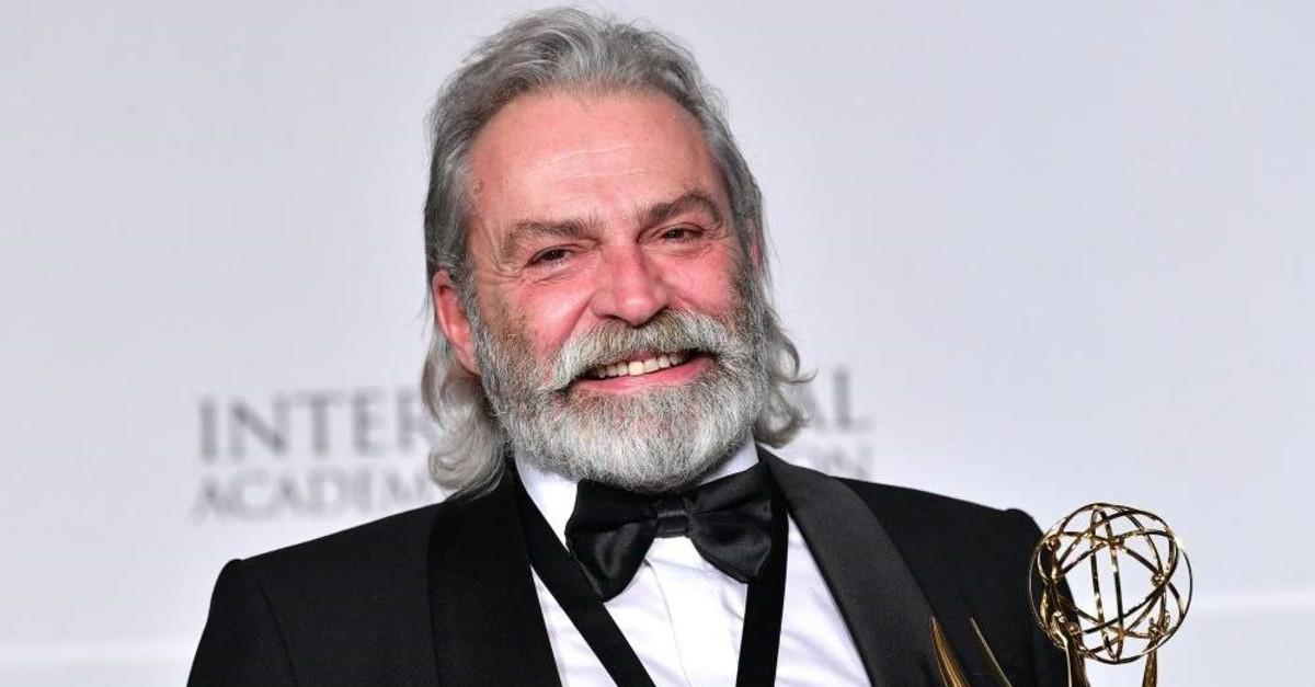 Haluk Bilginer at the 2019 International Emmy Awards Gala on Nov. 25, 2019 in New York City.  (AFP photo)