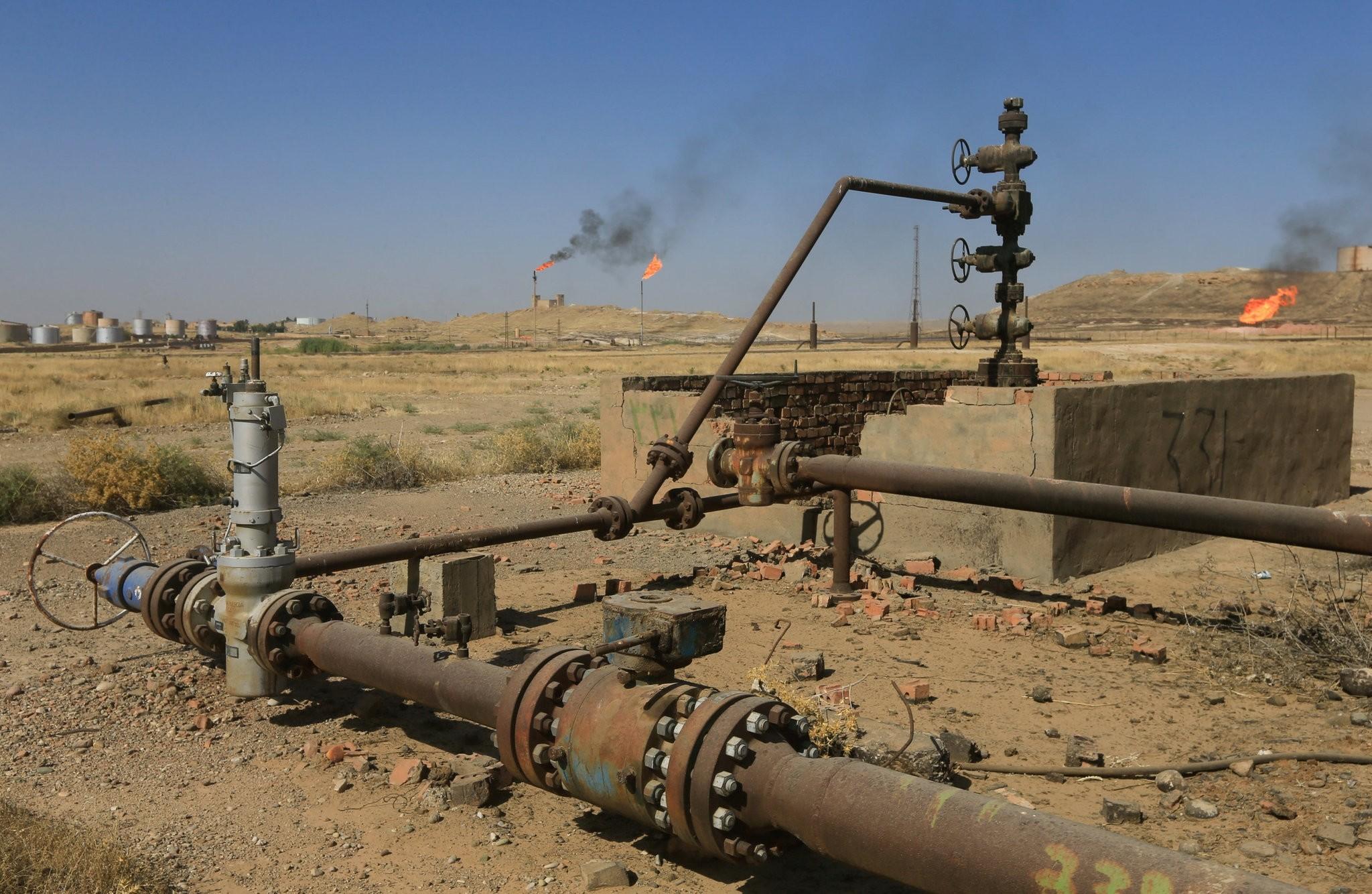 An oil field is seen in Kirkuk, Iraq, Oct. 18, 2017. (Reuters Photo)