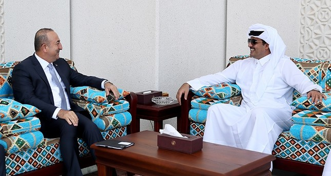 أمير قطر وجاوش أوغلو يبحثان سبل تطوير العلاقات التركية-القطرية