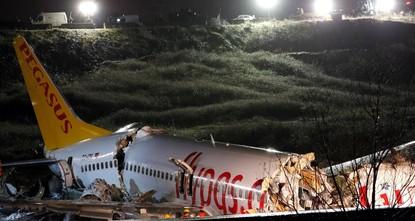 Three killed as plane veers off runway in Istanbul