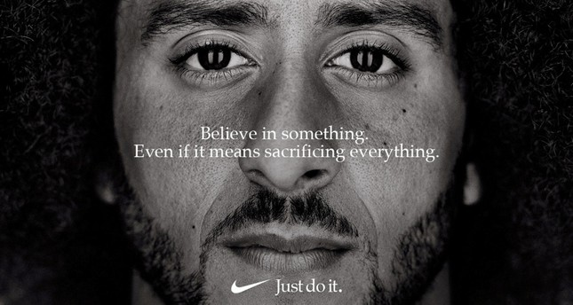 Former San Francisco quarterback Colin Kaepernick appears as a face of Nike Inc ad in this image released by Nike in Beaverton, Oregon, U.S., September 4, 2018. (Nike/Handout via REUTERS)