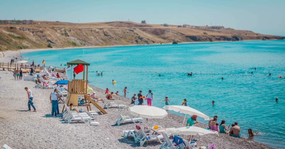 Lake Van's Blue Flag beaches lures tourists from other provinces as well as neighboring countries.