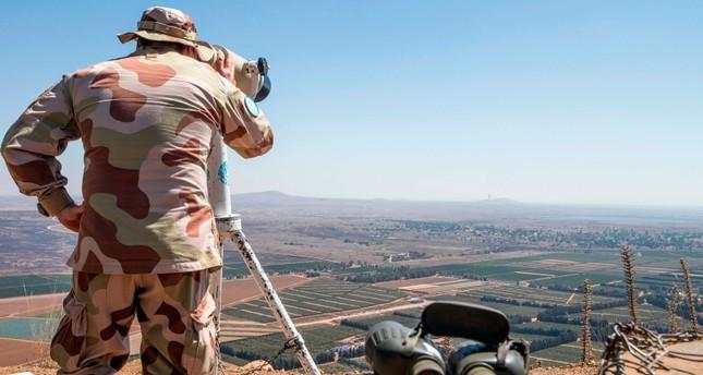 جندي إسرائيلي في الجانب المحتل من الجولان السوري