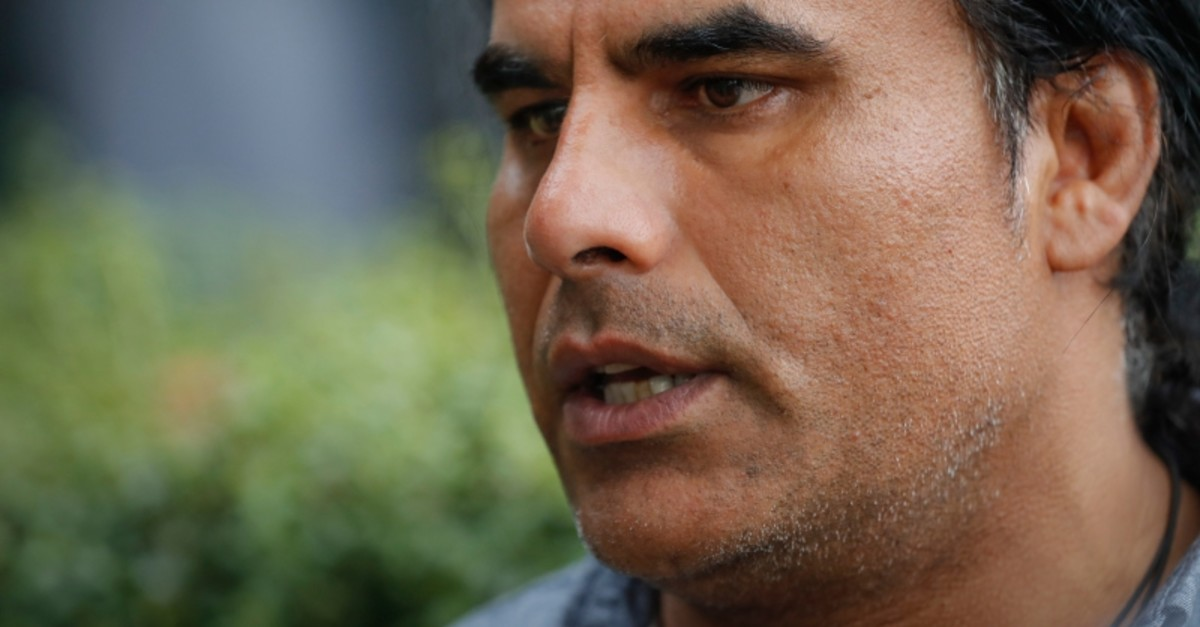 Abdul Aziz, survivor of mosque shooting speaks to Associated Press during an interview in Christchurch, New Zealand, Saturday, March 16, 2019. (AP Photo)