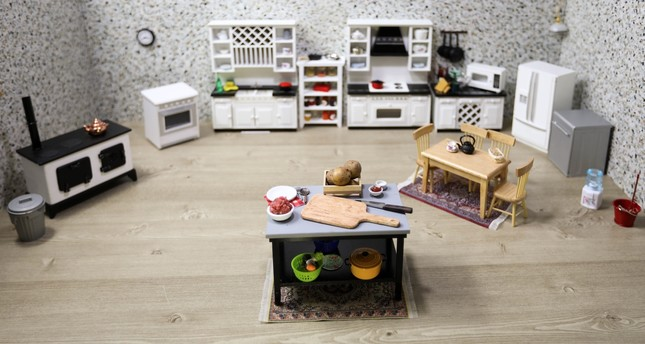Burcu Aydın prepares traditional Turkish food in this miniature kitchen to introduce Turkish cuisine.