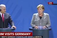 أكد رئيس الوزراء التركي بن علي يلدريم في مؤتمر صحافي مع المستشارة الألمانية أنغيلا ميركل أن أنقرة وبرلين سوف تواصلان تطوير علاقاتهما بقوة خلال المرحلة المقبلة.  وقال يلدريم:
