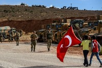 Turkish forces seen as protectors in Syria's opposition enclave