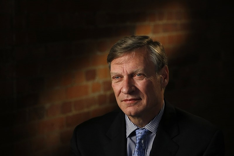U.S. businessman Ted Malloch, Donald Trump's potential choice as envoy to the EU, speaks to The Associated Press during an interview in London, Thursday, Feb. 9, 2017 (AP Photo)