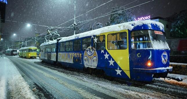 Sarajevo covered in snow