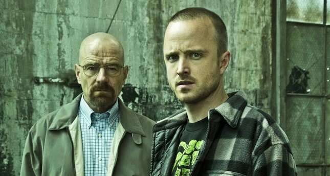 "Walter White (Bryan Cranston) and Jesse Pinkman (Aaron Paul) in ""Breaking Bad."""