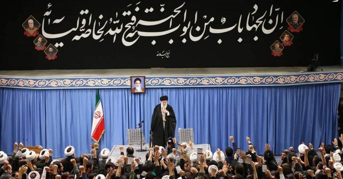Iran's Supreme Leader Ayatollah Ali Khamenei addresses a meeting in Tehran, Iran, Jan. 8, 2020. (AFP Photo)