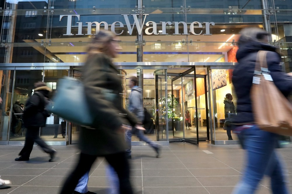 A view of the Time Warner offices in New York.