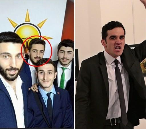 Although Çetin and Karlov's assassin Mevlüt Mert Altıntaş (R) share a similar appearance, the differences in their facial features are very obvious