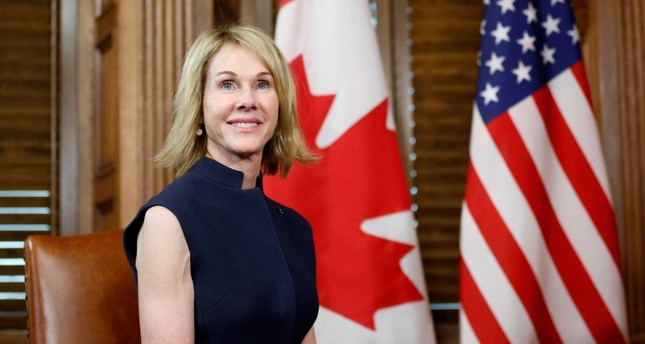 U.S. Ambassador to Canada Kelly Craft takes part in a meeting with Canada's Prime Minister Justin Trudeau in Trudeau's office on Parliament Hill in Ottawa, Ontario, Canada, November 3, 2017. (Reuters Photo)