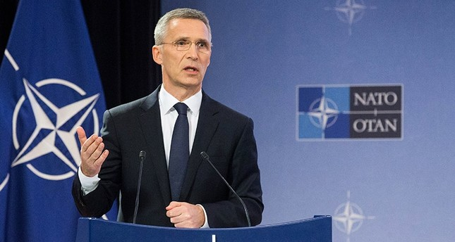 NATO Secretary General Jens Stoltenberg presents NATO's annual report for 2016 during a press conference at alliance headquarters in Brussels, Belgium, 13 March 2017. (EPA Photo)
