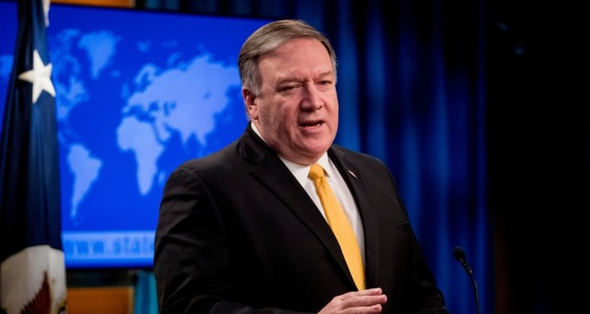 U.S. Secretary of State Mike Pompeo speaks at a news conference at the State Department in Washington, Friday, Feb. 1, 2019. (AP Photo)