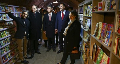 EU delegation donates books to unique library established from garbage bin finds