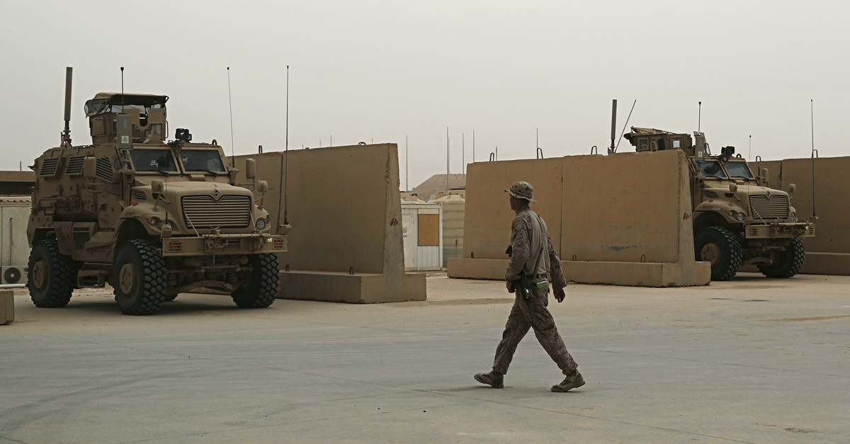 In this Nov. 8, 2017, file photo, U.S. Marines are stationed in Ain al-Asad air base in Iraq. (AP Photo)