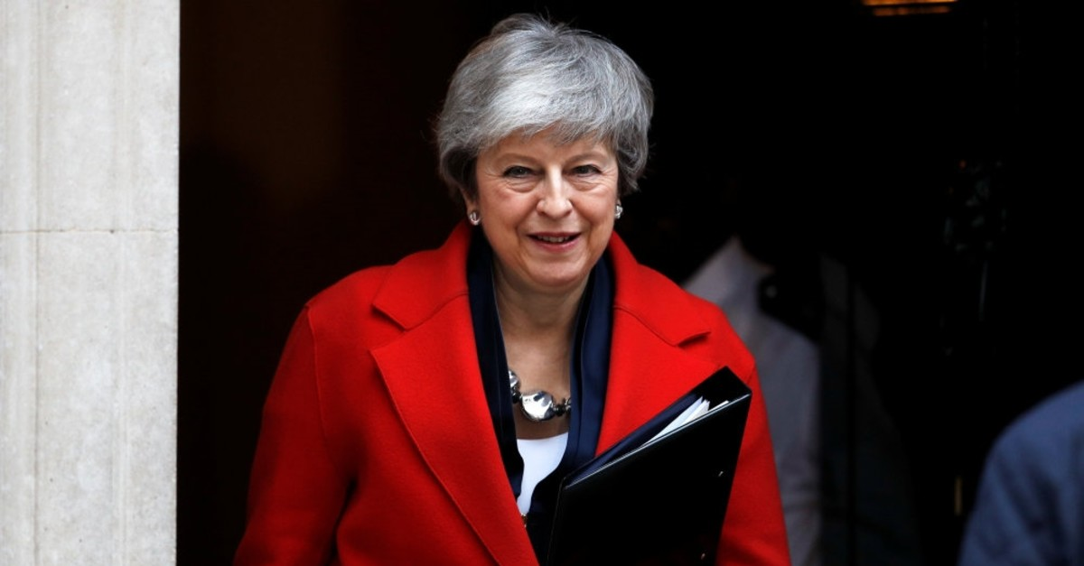 Britain's Prime Minister Theresa May leaves 10 Downing Street, London, Feb. 26, 2019.