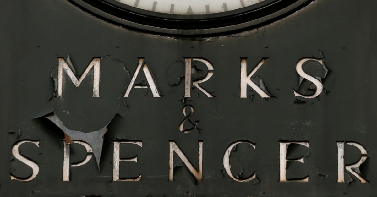 A Marks & Spencer sign is seen outside outside a store in London January 8, 2014. (REUTERS Photo)