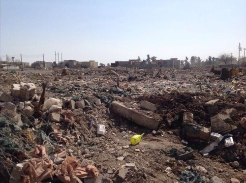 A view on the site of Turkey's consulate general building in Mosul razed to the ground. March 7, 2017.