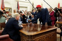 Kanye proclaims love for Trump during Oval Office visit