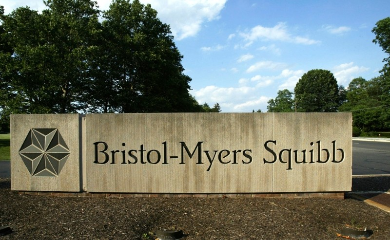 In this June 15, 2005, file photo, a sign stands in front of a Bristol-Myers Squibb building in a Lawrence Township, N.J. (AP Photo)