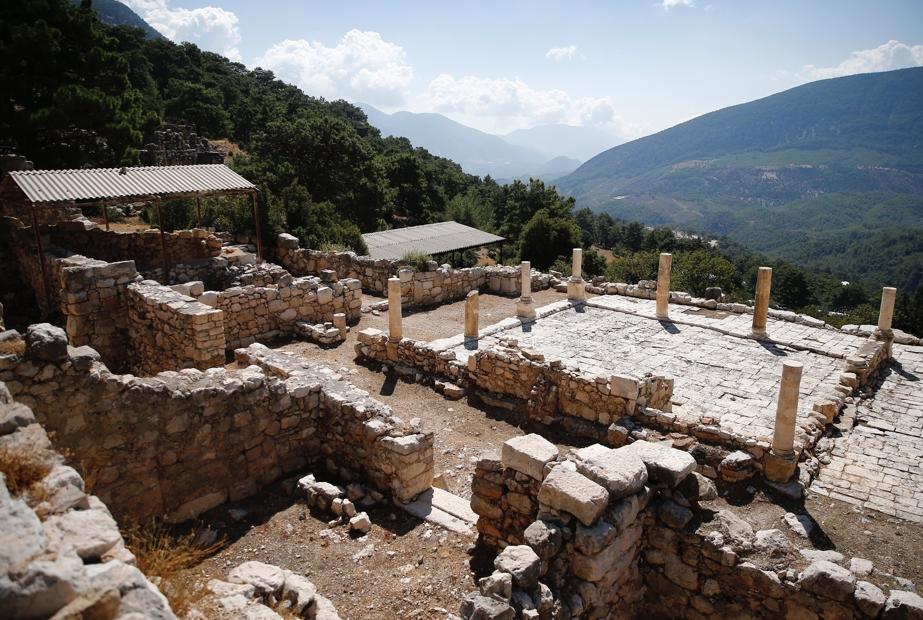 A villa structure that is thought to have been built in the early fourth  century was unearthed during the excavations.