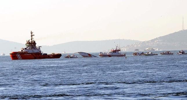 استشهاد ثلاثة من خفر السواحل التركي في انقلاب قاربهم باسطنبول