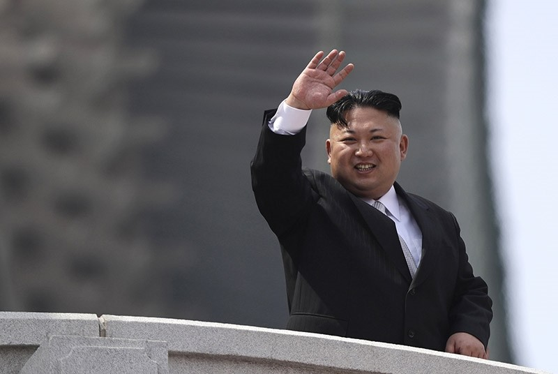 In this Saturday, April 15, 2017, file photo, North Korean leader Kim Jong Un waves during a military parade to celebrate the 105th birth anniversary of Kim Il Sung in Pyongyang, North Korea. (AP Photo)