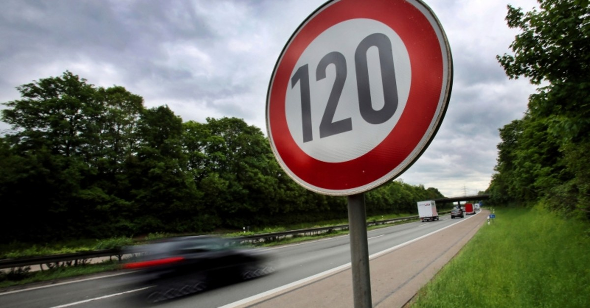 In this May 15, 2013 file photo a traffic sign indicating a speed limit of 120 km/h (75 mph) is pictured at the highway A59 close to Troisdorf, Germany. (AP Photo)