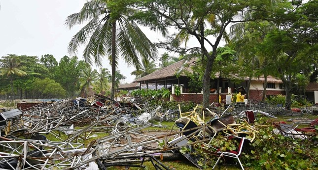 This picture taken on December 26, 2018 shows the area where the Seventeen pop band was playing when the tsunami hit the west coast of Indonesia's Java island (AFP File Photo)