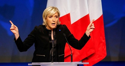 pIf Marine Le Pen has her way, the French will soon pay for their baguettes with francs, not euros./p  pThe presidential candidate from the anti-EU, anti-immigration National Front party is all...