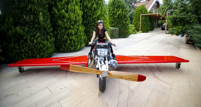 Turkish inventor ready to takeoff with homemade flying motorbike