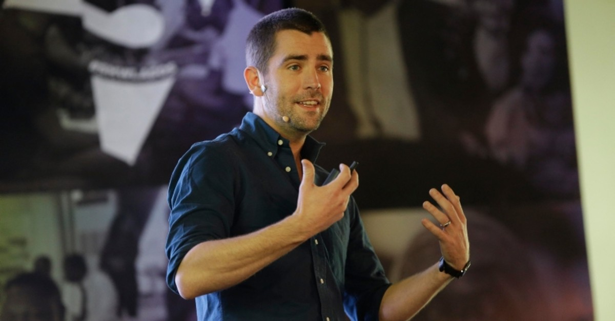 In this Feb. 27, 2017, file photo Facebook's Chief of Product officer, Chris Cox, speaks at the first day of the social media week at the Landmark centre in Lagos, Nigeria. (AP Photo)