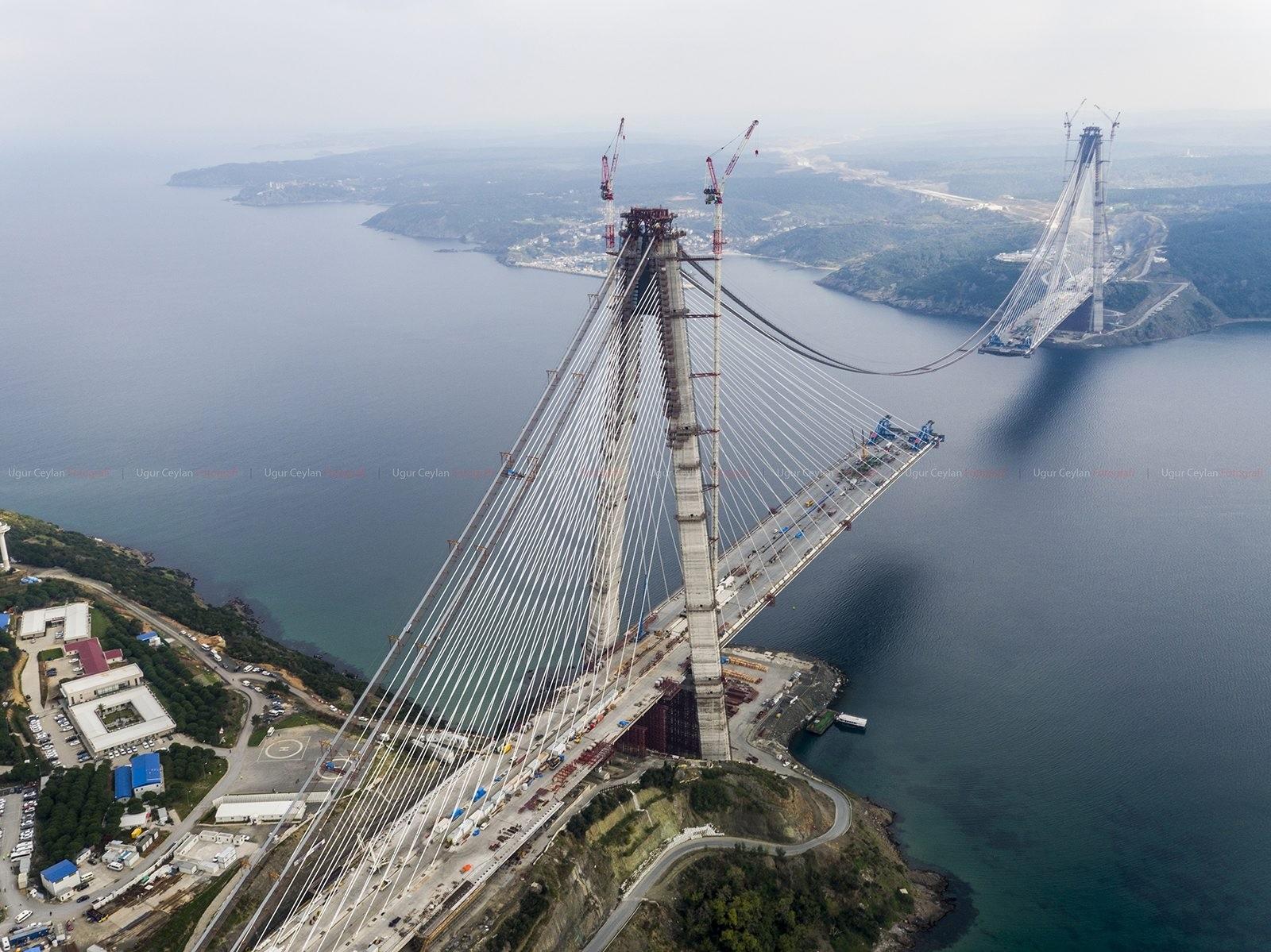 A photo of Istanbul's third bridge Yazu Sultan Selim Bridge that spans the Bosphorus between Europe and Asia. (AA Photo)