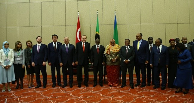 President Erdoğan and his delegation meet with their Tanzanian counterparts as part of Turkey's official visits to the African countries to increase the Turkish-African cooperation and partnership, earlier this year on Jan 23.