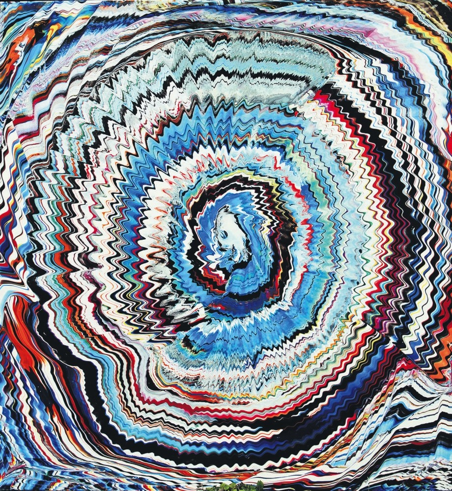 Yu00fccel Du00f6nmez, acrylic on canvas, 110x100 cm.