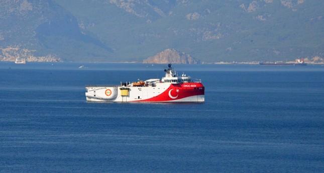Turkey's seismic exploration vessel MTA Oruç Reis seen off the shore of Antalya, Aug. 30, 2019.