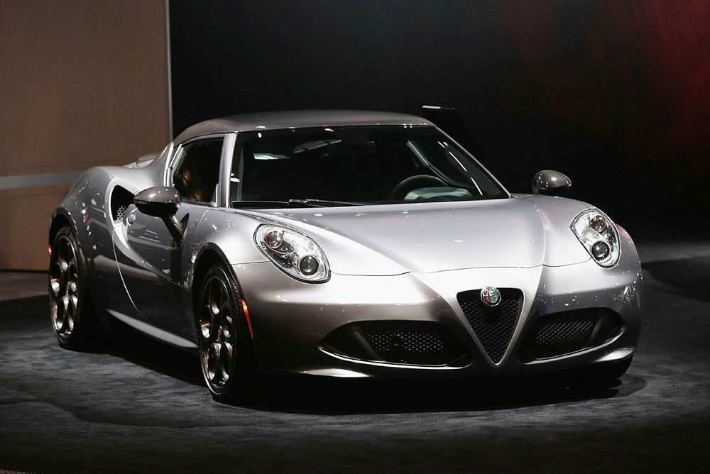 Alfa Romeo shows off a 4C Spider with a base price of $65,900 at the Chicago Auto Show
