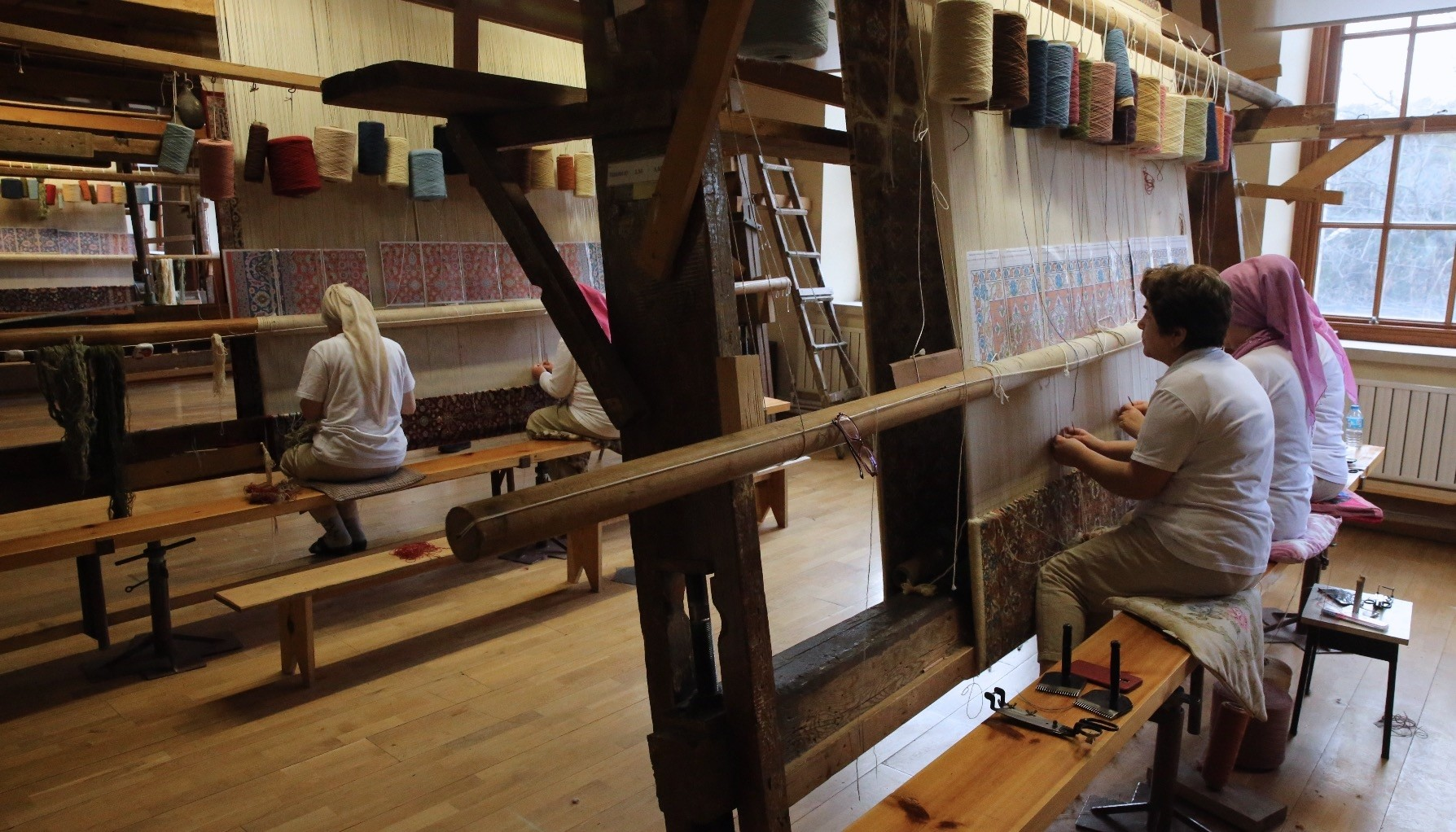 TBMM National Palaces Hereke Carpet and Silk Weaving Factory has been serving as a u201cmuseum factoryu201d for 176 years.