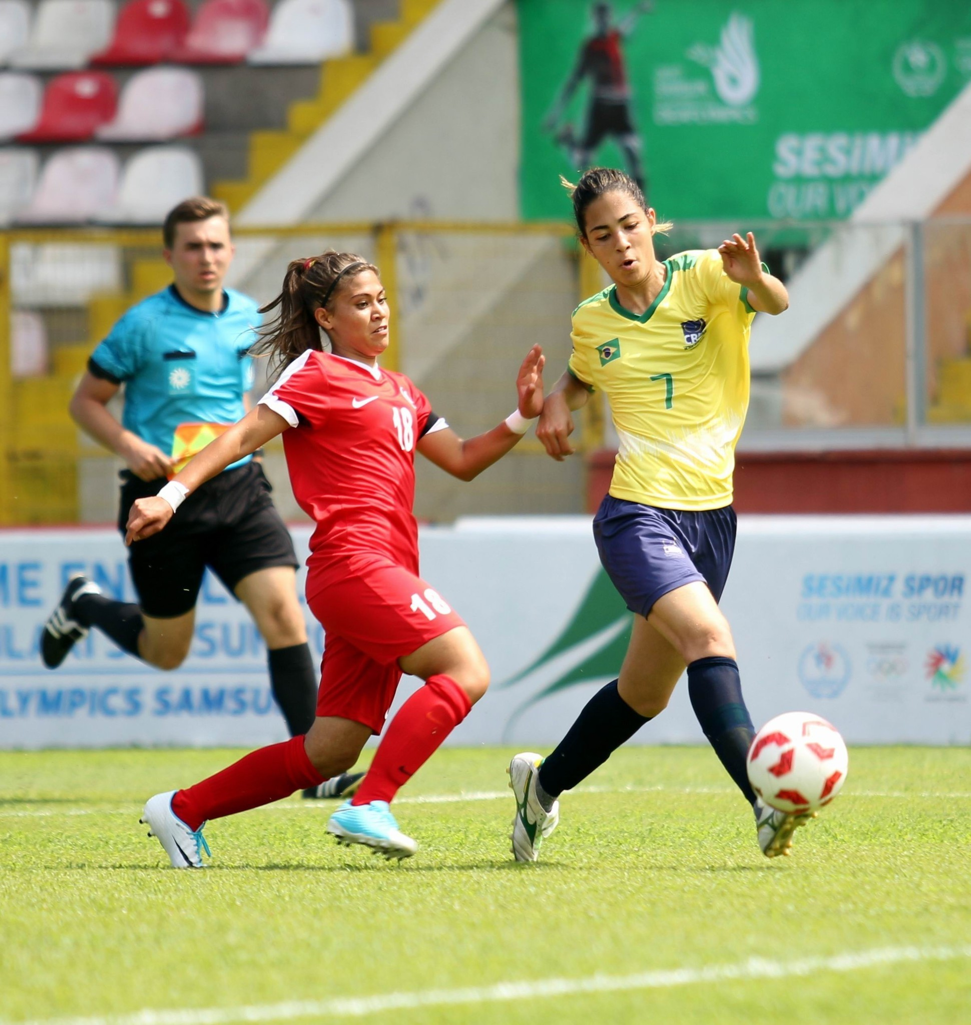 The competition officially kicked off the same day with womenu2019s football where the Turkish national football team got off to a bad start, losing 4-1 to Brazil.