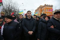 Ex-Georgian leader Saakashvili leads rally against Ukrainian president in Kiev