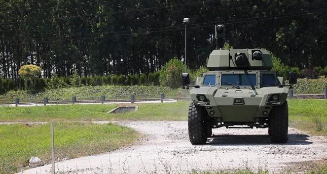 The AKREP II new-generation armored land vehicle produced by Turkish defense company Otokar. (AA Photo)